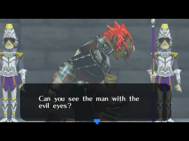 The Legend of Zelda - Ocarina of Time - Cut-Scene  - The one on the right? - User Screenshot