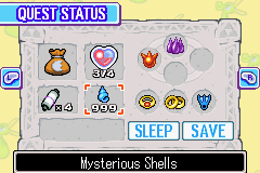 Legend of Zelda, The - The Minish Cap - Wow i sure have lots of Mysterious Shells. - User Screenshot