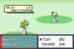 Pokemon Emerald - Battle  - Wally can fight? - User Screenshot