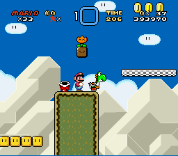 Super Mario World - Location bug - items - User Screenshot