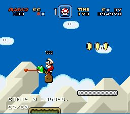 Super Mario World - Location bug - yoshi bug - User Screenshot
