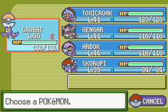 poison challenge team before the fourth gym