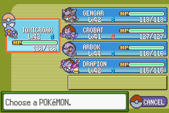 poison challenge team before the 5th gym