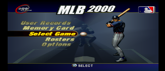 MLB 2000 - Menus Main Menu - Main menu - User Screenshot