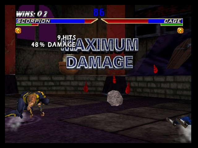 Mortal Kombat 4 - Battle  - kicking ass  - User Screenshot