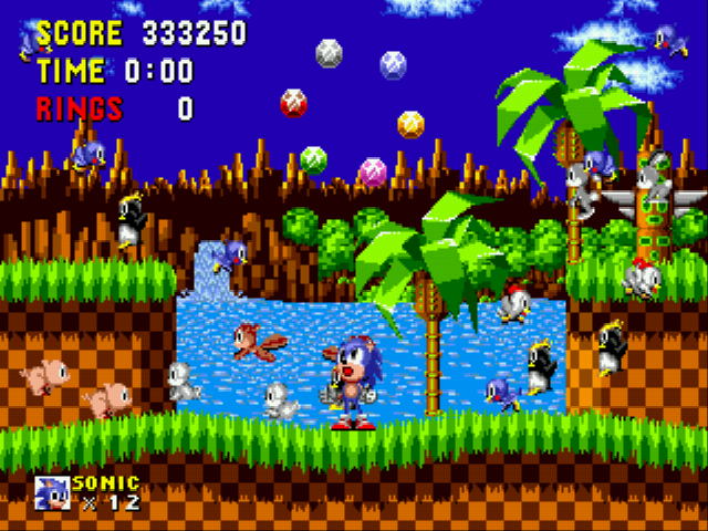 Sonic the Hedgehog - Cut-Scene  - Perfect ring of power! :) - User Screenshot