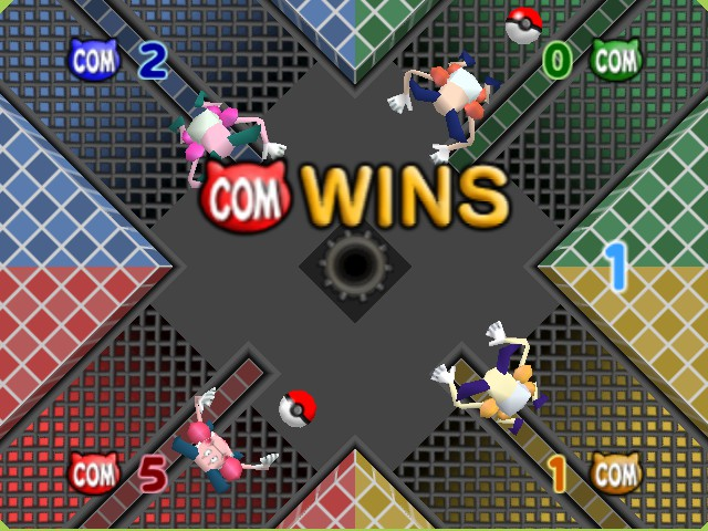 Pokemon Stadium 2 - Mini-Game  - I wins this pokeball with 1 seconds to spare - User Screenshot