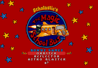 The Magic School Bus - Menus Bonus Games - Bonus Games - User Screenshot