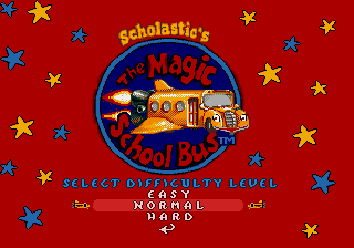 The Magic School Bus - Menus Select Difficulty - Select Difficulty - User Screenshot