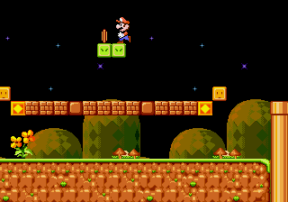 Super Mario 4 - Space Odyssey - Level  - Collecting the coins on top - User Screenshot