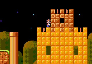 Super Mario 4 - Space Odyssey - Level  - If only all of the blocks were coins - User Screenshot