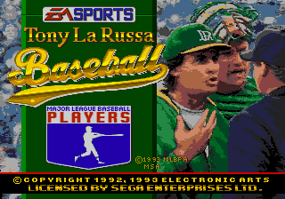 Tony La Russa Baseball - Menus Title Screen - Title Screen - User Screenshot