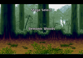 Yuu Yuu Hakusho (english translation) - Location Demonic Woods - Stage Select: Demonic Woods - User Screenshot