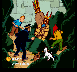 The Adventures of Tintin - Prisoners of - Menus Main Menu - Main Menu - User Screenshot