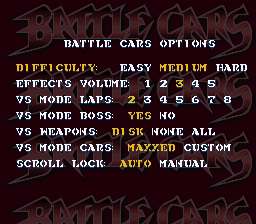 Battle Cars - Menus  -  - User Screenshot