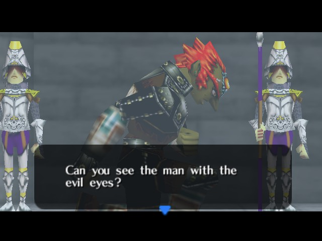 The Legend of Zelda - Ocarina of Time - Cut-Scene  - Are the eyes really that evil? - User Screenshot