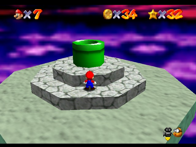 Super Mario 64 - Level Bowser In the Dark World - Made it to the pipe! - User Screenshot