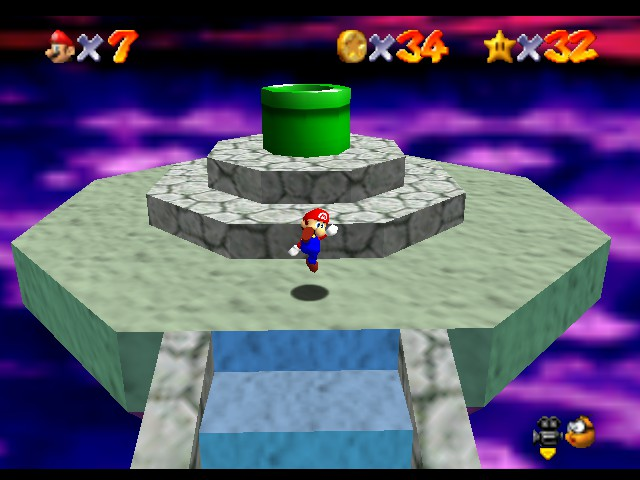 Super Mario 64 - Level Bowser In the Dark World - Woo, King of the Mountain Baby! EyeofaTiger! - User Screenshot