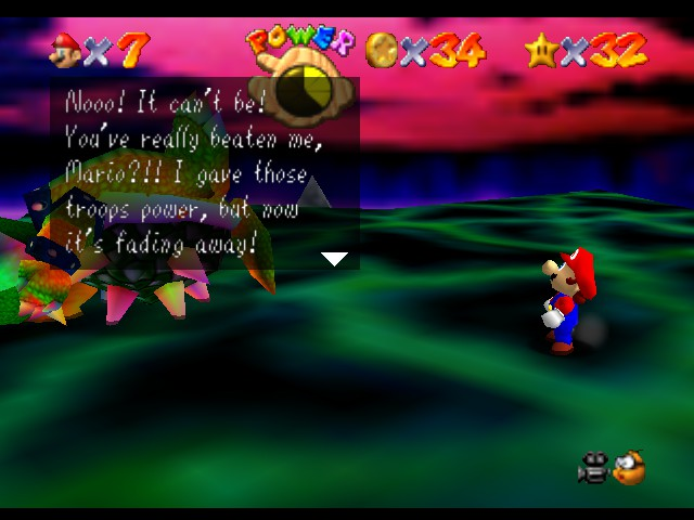 Super Mario 64 - Level Bowser In the Dark World - I really did, Bowser. - User Screenshot