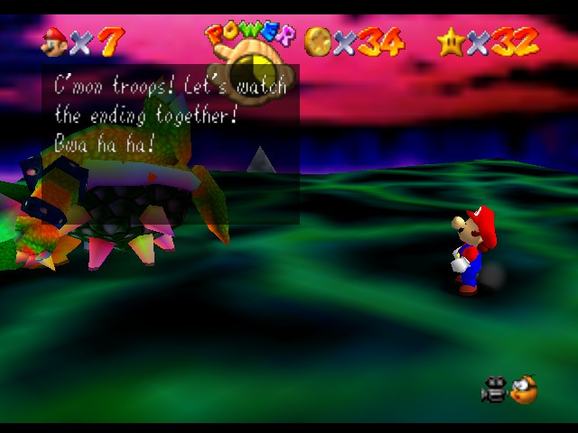 Super Mario 64 - Level Bowser In the Dark World - Huh, and you