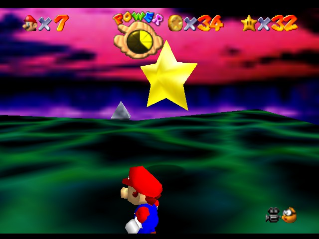 Super Mario 64 - Level Bowser In the Dark World - Oh, A star! WOW! - User Screenshot