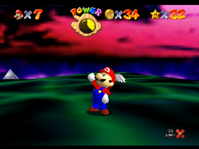 Super Mario 64 - Level Bowser In the Dark World - I have the... POWER! Also, good pose Mario. - User Screenshot