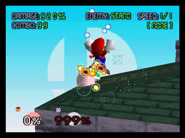 Super Smash Bros. - Battle  - As you can see, Mario is very powerful... - User Screenshot