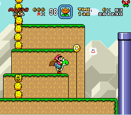 Super Mario World - Level  - Huh, Neat - User Screenshot