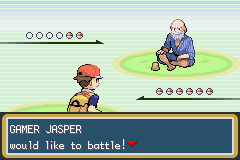 Pokemon Fire Red - Battle  - Creepy Old Dude Is Creepy - User Screenshot