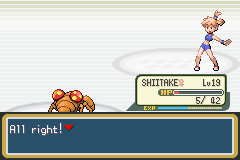 Pokemon Fire Red - Battle  - Apparently Misty Is A Cheerleader - User Screenshot