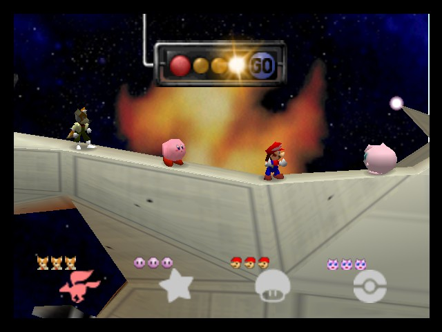 Super Smash Bros. - Battle  - WTF are u doing on my spaceship - User Screenshot