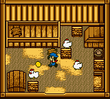 Harvest Moon GBC - Misc  - Giving fodder to the chickens. - User Screenshot