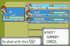 Pokemon Emerald - Battle  - Making the switch - User Screenshot