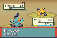 Pokemon Emerald - Battle  - You will be ours, Makuhita! - User Screenshot