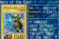 Yu-Gi-Oh! - The Sacred Cards - Character Profile  - Hero of the east - User Screenshot