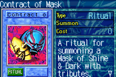 Yu-Gi-Oh! - The Sacred Cards - Character Profile  - Mask of shine and dark - User Screenshot