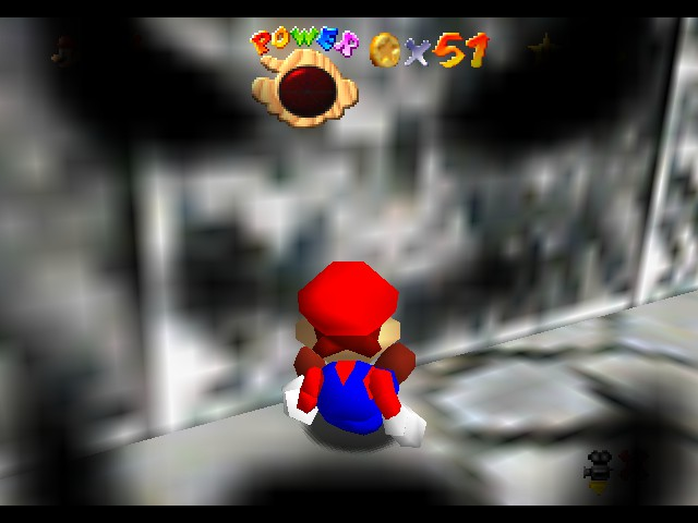 Super Mario 74 - Level 1st Overworld - I died :+ - User Screenshot