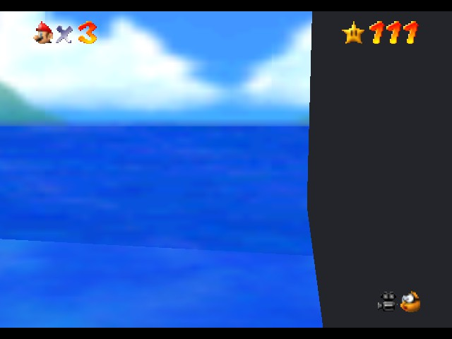 Super Mario 74 - Misc behind walls - how did I end up like this?! - User Screenshot