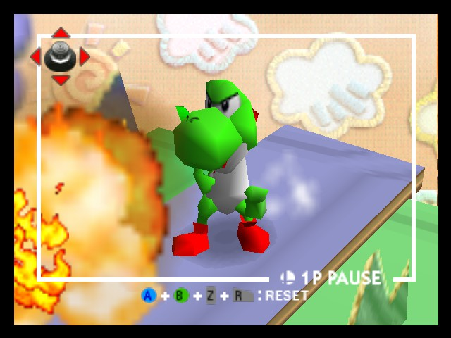 Super Smash Bros. - Battle  - yoshi death stare: yoshi looks scary O_O - User Screenshot