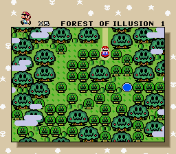 Super Mario World - Location Forest of Illusion - Ahhhhh! Trees with faces! Run! - User Screenshot