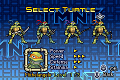 Donatello -Character Select :Michelangelo Turtle Select  - User Screenshot