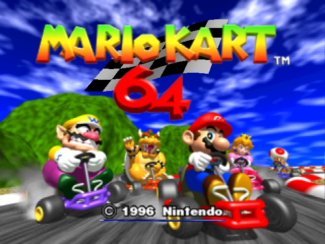 Mario Kart 64 - Introduction  - Title Screen - User Screenshot