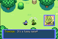 Pokemon Mystery Dungeon - Red Rescue Team - Cut-Scene  - Really? And your name is Treeckan... - User Screenshot