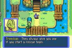 Pokemon Mystery Dungeon - Red Rescue Team - Cut-Scene  - How do they know we started one, anyway?! - User Screenshot