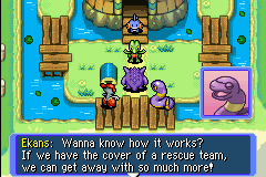 Pokemon Mystery Dungeon - Red Rescue Team - Cut-Scene  - I never considered this for a sec in Blue. - User Screenshot