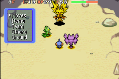 Pokemon Mystery Dungeon - Red Rescue Team - Battle  - Zapdos: Run Breaker Mark 1 - User Screenshot