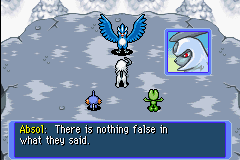 Pokemon Mystery Dungeon - Red Rescue Team - Cut-Scene  - Thanks, Absol, for saving the day!! - User Screenshot