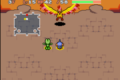 Pokemon Mystery Dungeon - Red Rescue Team - Battle  - Moltres: Run Breaker Mark 2 - User Screenshot