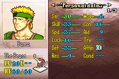 Fire Emblem - Gheb Fe - Character Profile here Batta the beast -  - User Screenshot