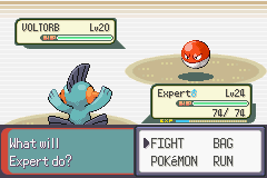 Pokemon Emerald - Battle  - CATCH THE POKEBALL - User Screenshot